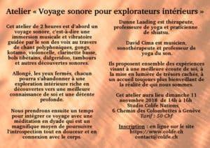 Voyage sonore Genève